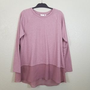 NWT LOGO Antique Rose French Terry Top